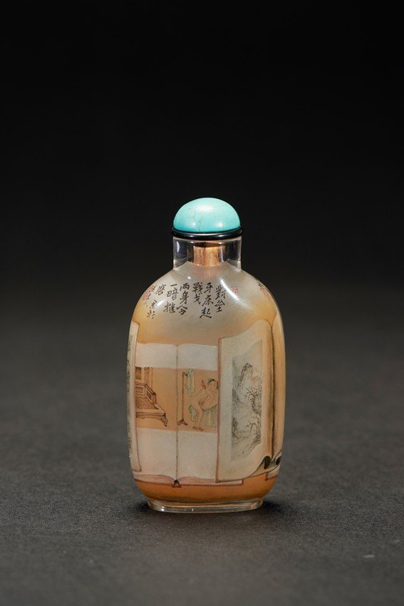 YANG ZHONGLIANG: AN INSIDE-PAINTED GLASS SNUFF BOTTLE