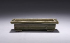 A Small Celadon Glazed Tray