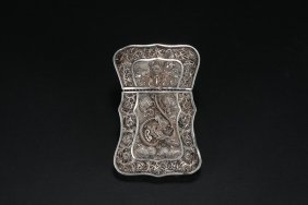 A Silver Openwork Business Card Case