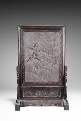 A Duan Stone 'figure' Table Screen