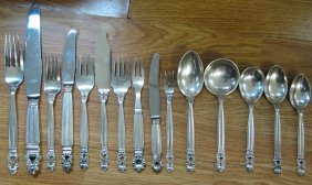 GEORG JENSEN ACORN FLATWARE FULL SET 246 PIECES