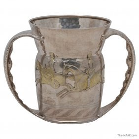 1013: TIFFANY PARCEL GILT STERLING SILVER HUNTING CUP