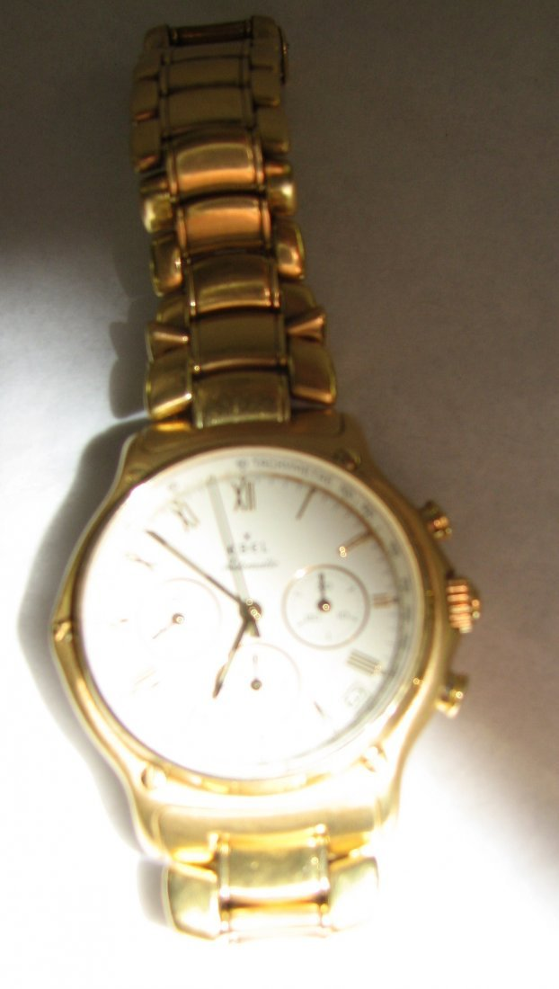 1035: EBEL 18K GOLD CHRONOGRAPH AUTOMATIC REF. 8134901 - 6