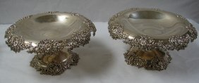 PAIR OF TIFFANY STERLING PIERCED TAZZAS