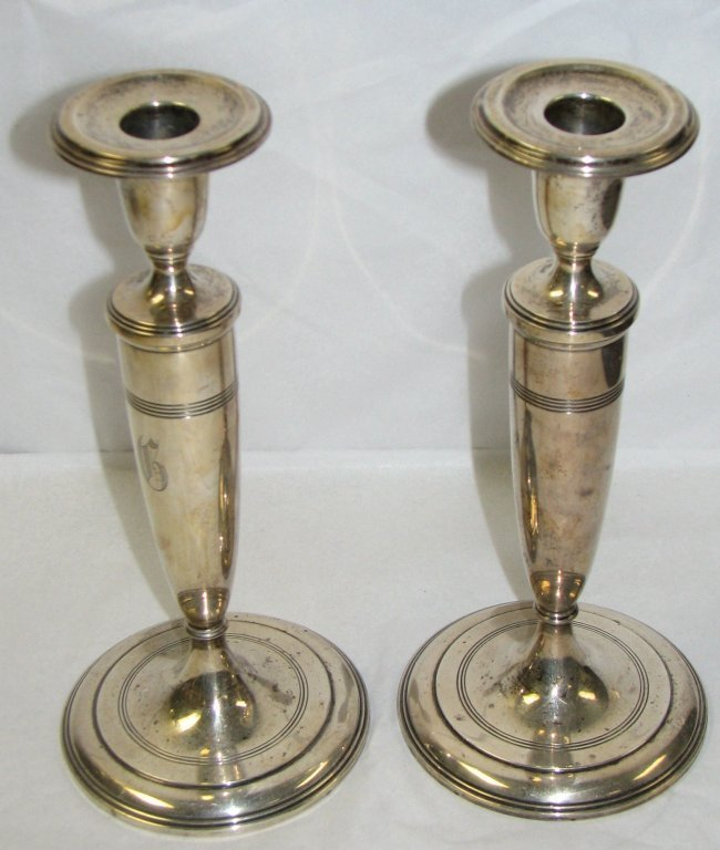 6: TIFFANY STERLING SILVER CANDLESTICKS