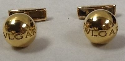 12: Bulgari 18k gold cuff links