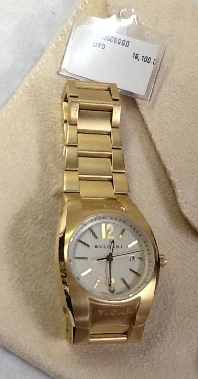 13: Bulgari ERGON 18K GOLD WATCH BRAND NEW NEVER WORN
