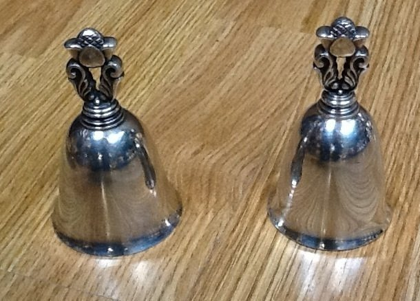 22: Pair of Georg Jensen dinner bells