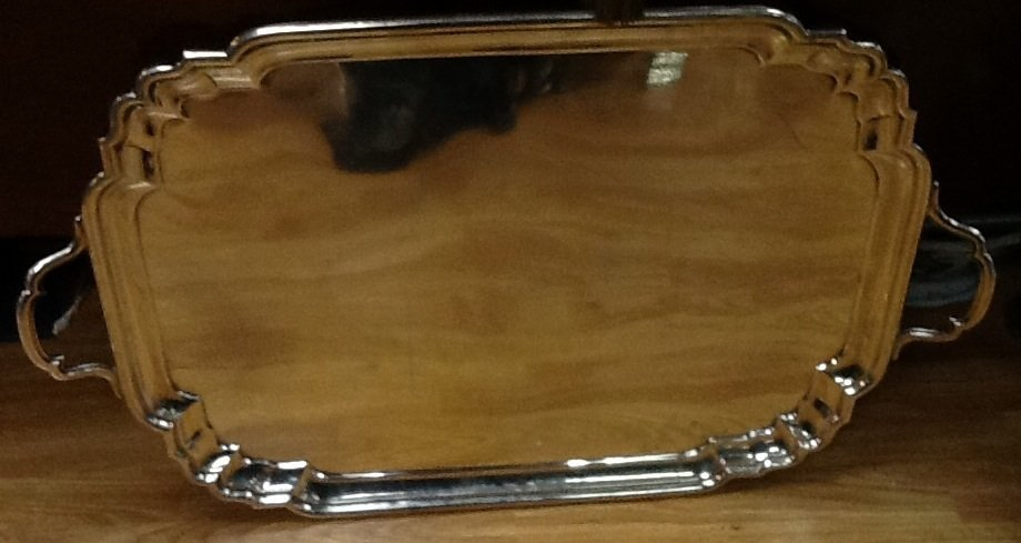 LARGE CHRICHTON STERLING SILVER TRAY
