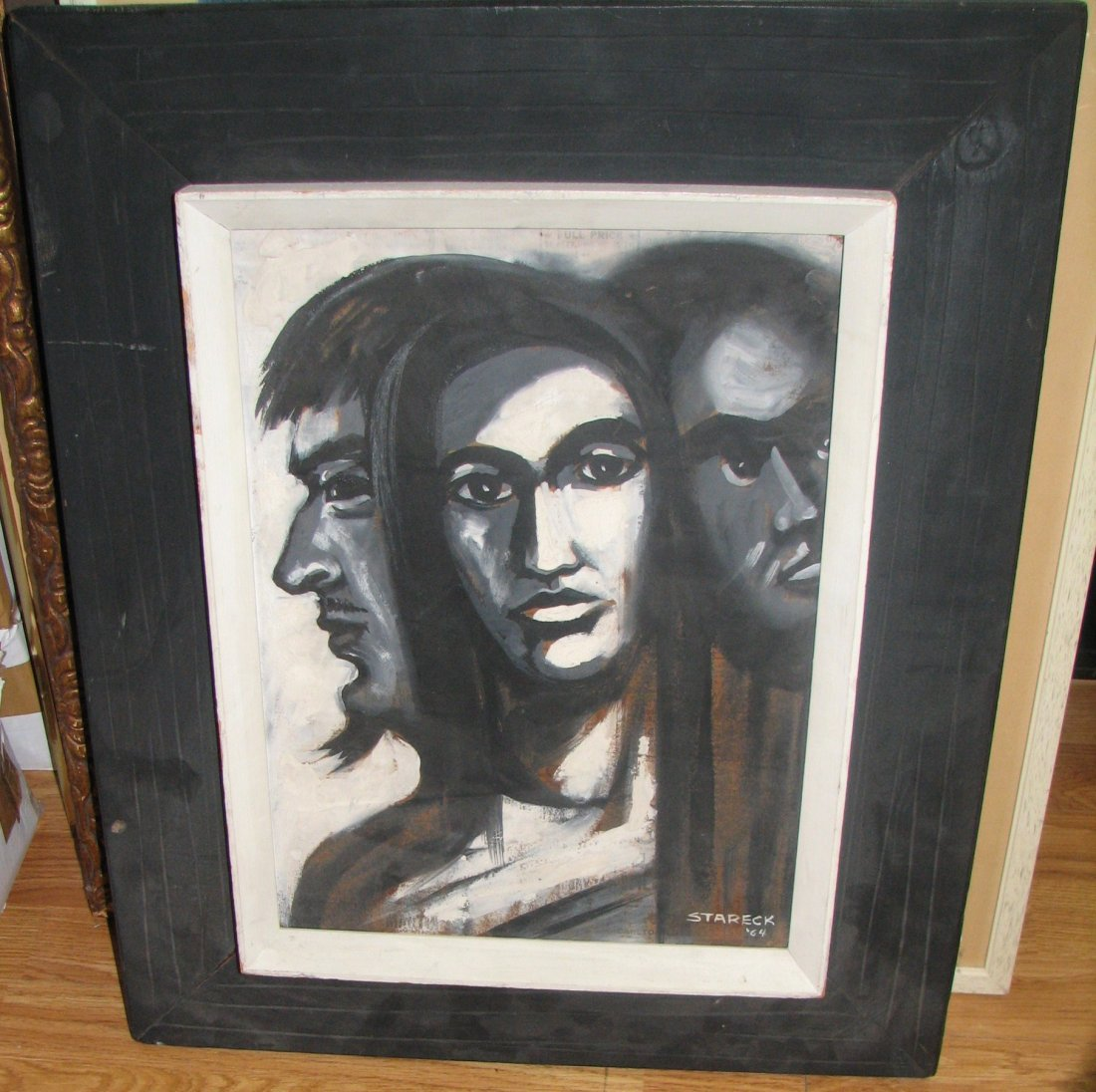 STARECK PAINTING OF THREE FACES