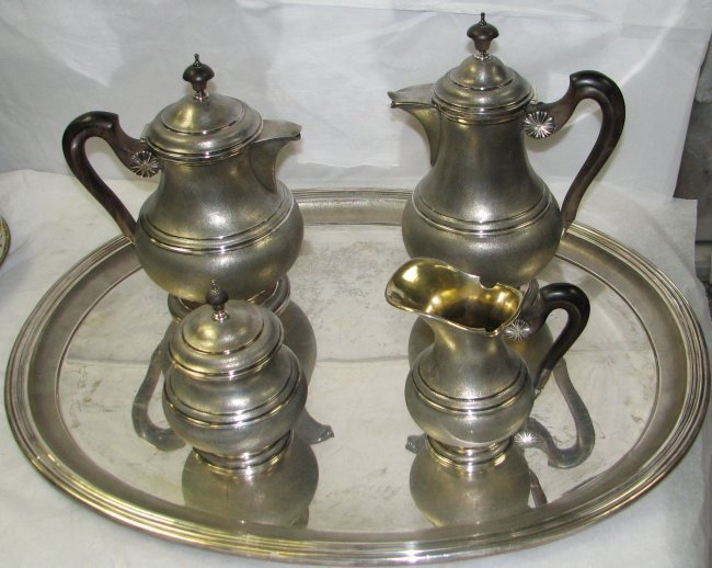 BUCCELLATI STERLING SILVER TEA & COFFEE SET