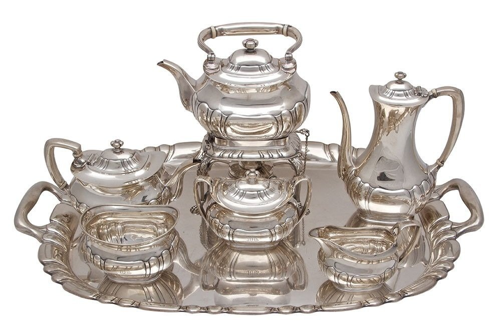 MAGNIFICENT TIFFANY & CO. STERLING SILVER TEA SET