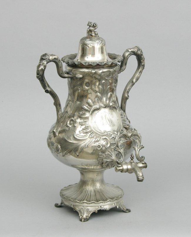 Bailey & co. Coin silver samovar / tea urn