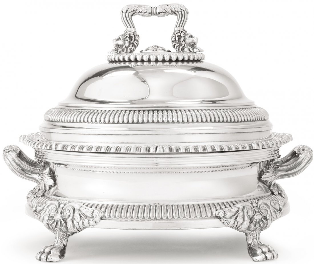PAUL STORR STERLING SILVER COVERED DISH LONDON 1808