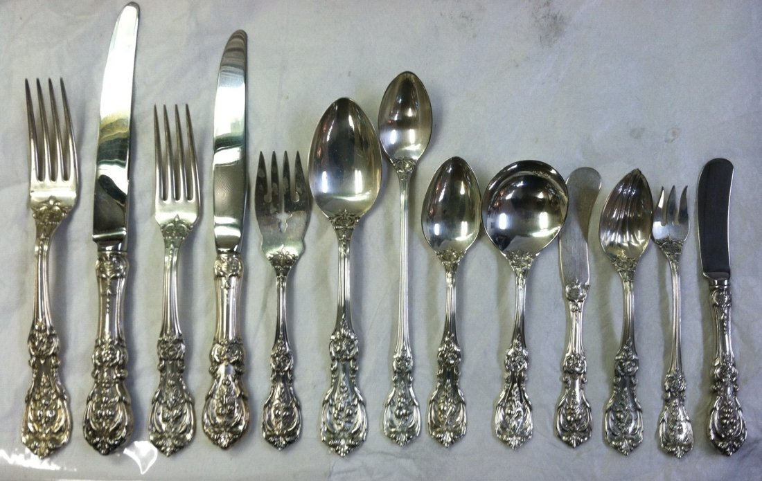 175 PC SET  FRANCIS THE FIRST STERLING SILVER FLATWARE