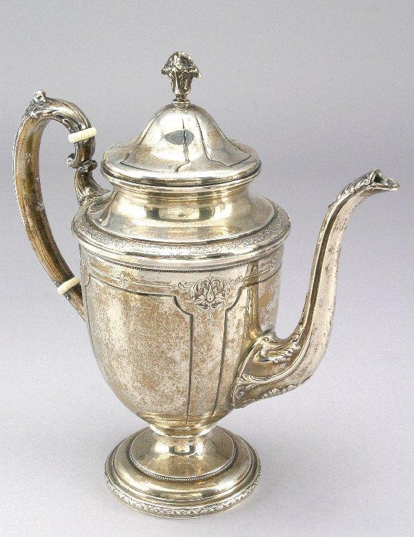TOWLE LOUIS XIV STERLING SILVER TEA SET 166 OZS. - 4