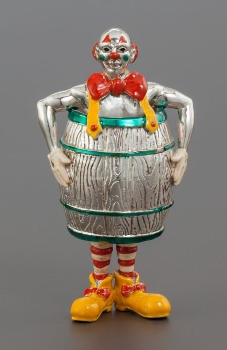 4 PC TIFFANY ENAMELED STERLING CIRCUS CLOWNS & FIGURES - 3