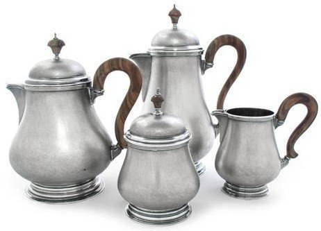 BUCCELLATI STERLING SILVER LARGE TEA SET WITH TRAY - 3