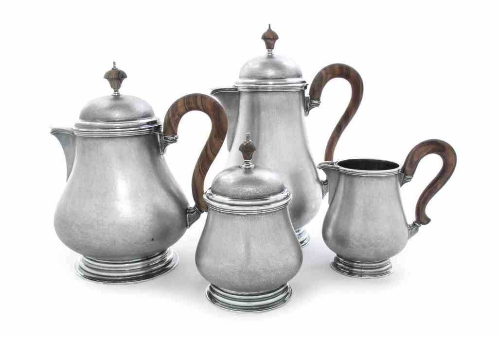 BUCCELLATI STERLING SILVER LARGE TEA SET WITH TRAY - 5