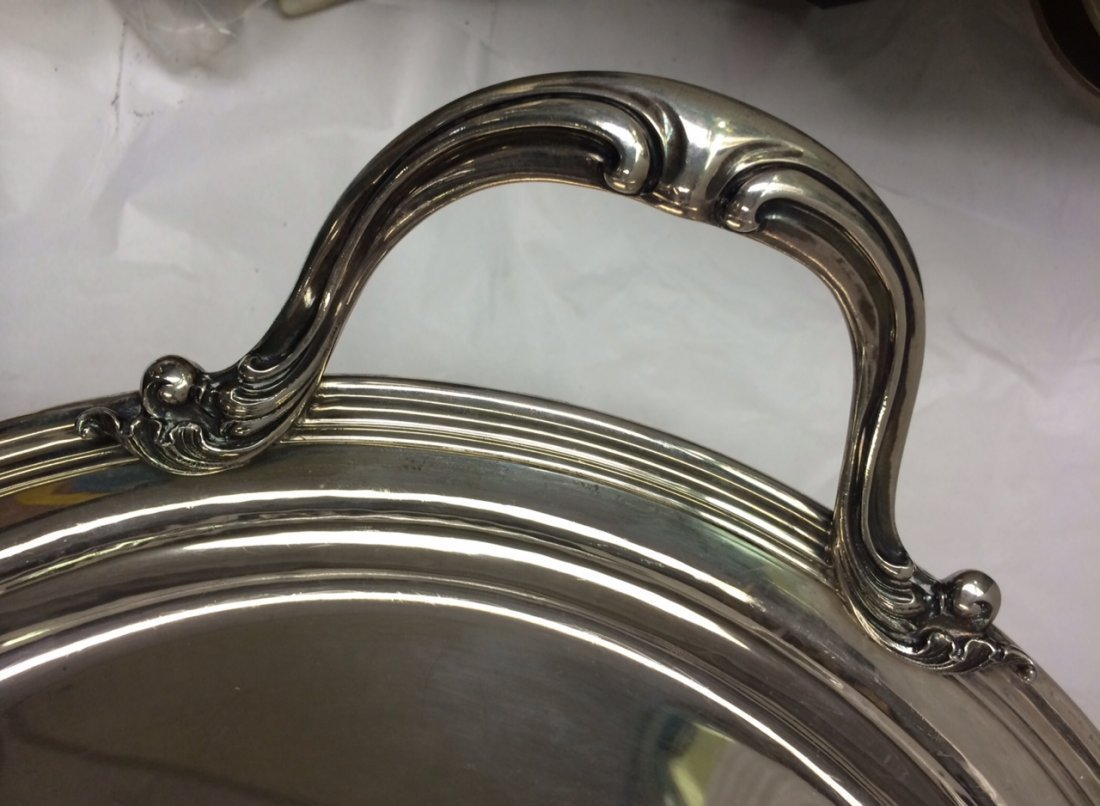BUCCELLATI STERLING SILVER LARGE TEA SET WITH TRAY - 8
