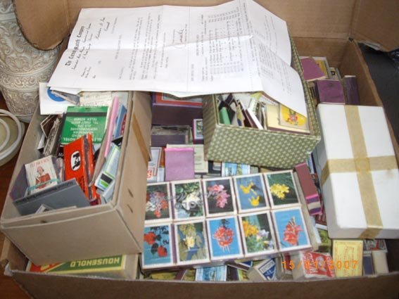 72: box of matchboxes 100s