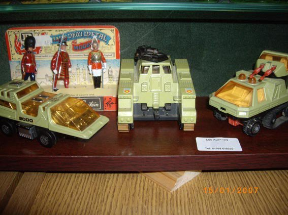 73: 3 MB Adventure 2000 vehicle & Britains fig.s