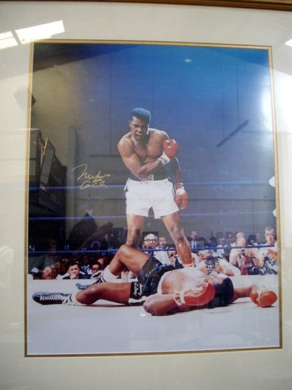 132: Cassius Clay signed framed photo COA