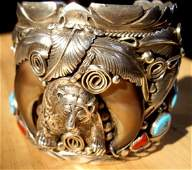 172A: Navajo Cuff bracelet - 5.5 ounces Sterling