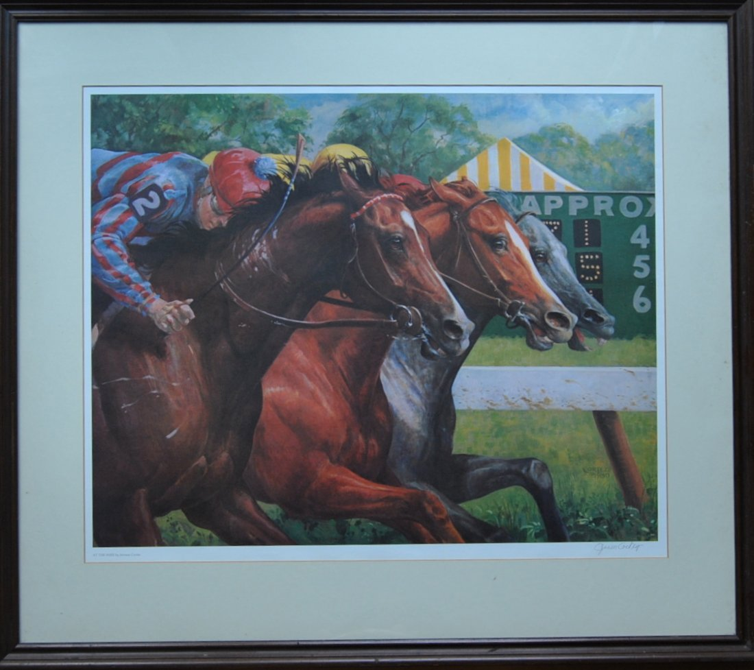 """1: Jenness Cortez """"At the Wire,"""" print"""