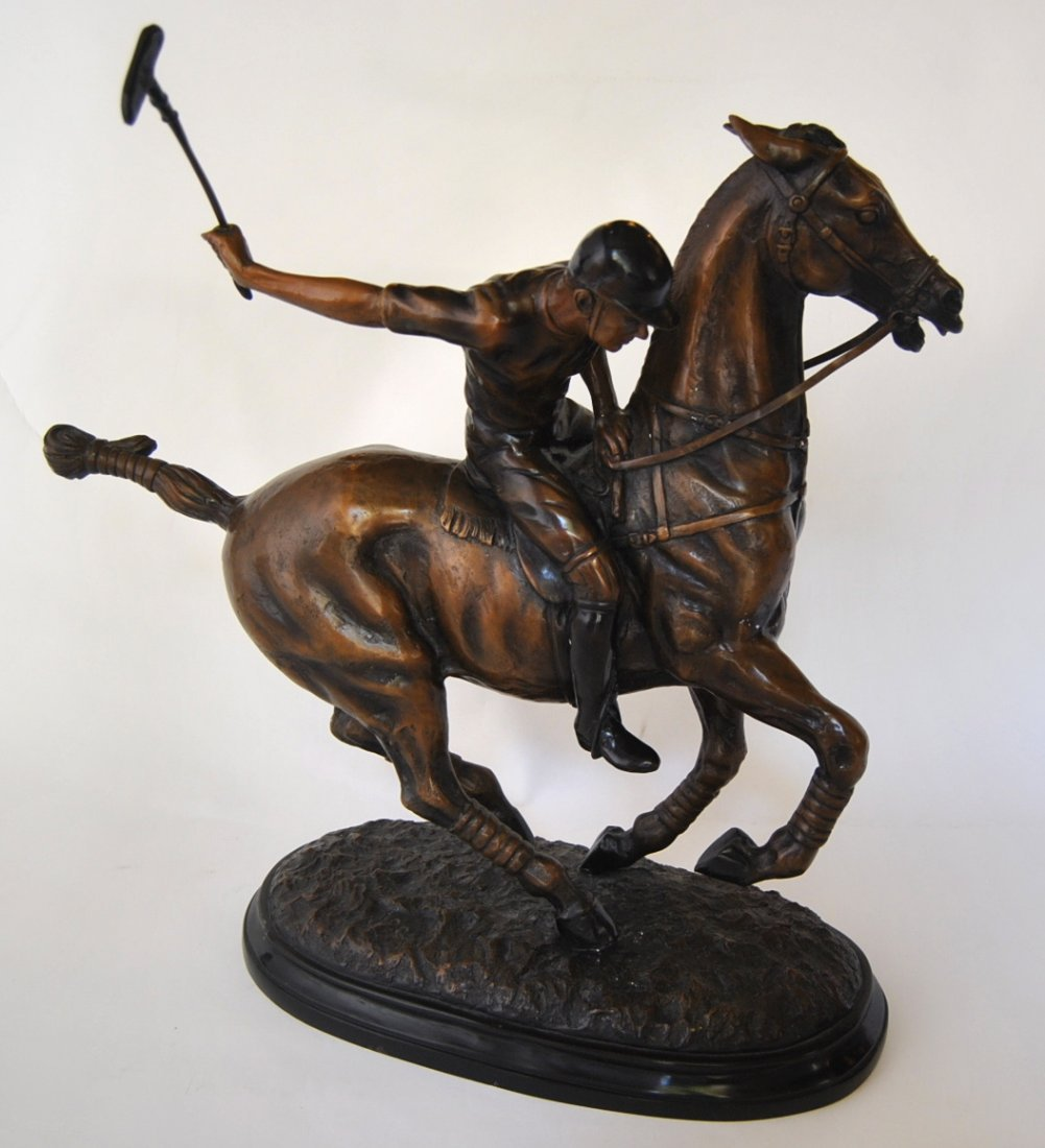 3: Bronze Casting of Polo Player