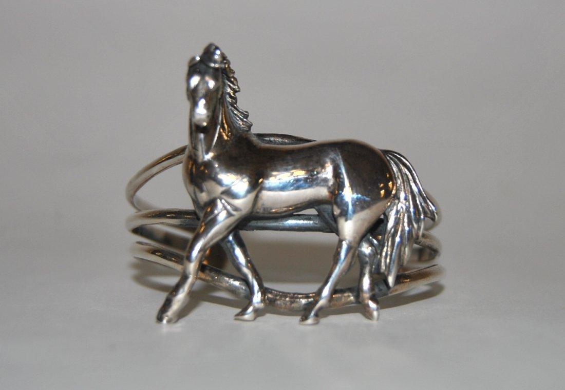 """6: Horse Bracelet Marked """"Sterling"""""""