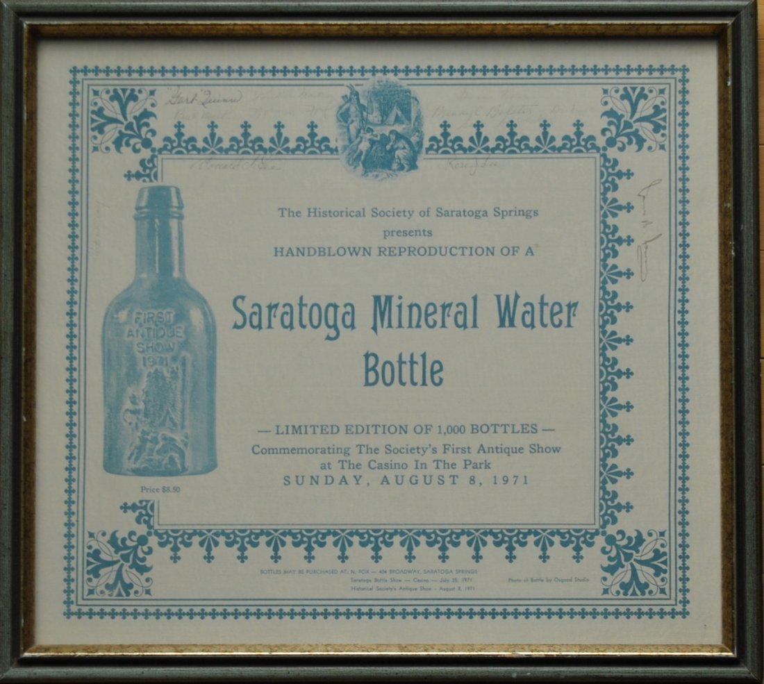 7: 1971 Saratoga Springs Historical Society Mineral Wat