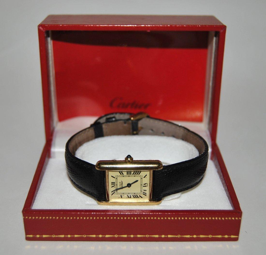 9: Lady's Cartier Wristwatch