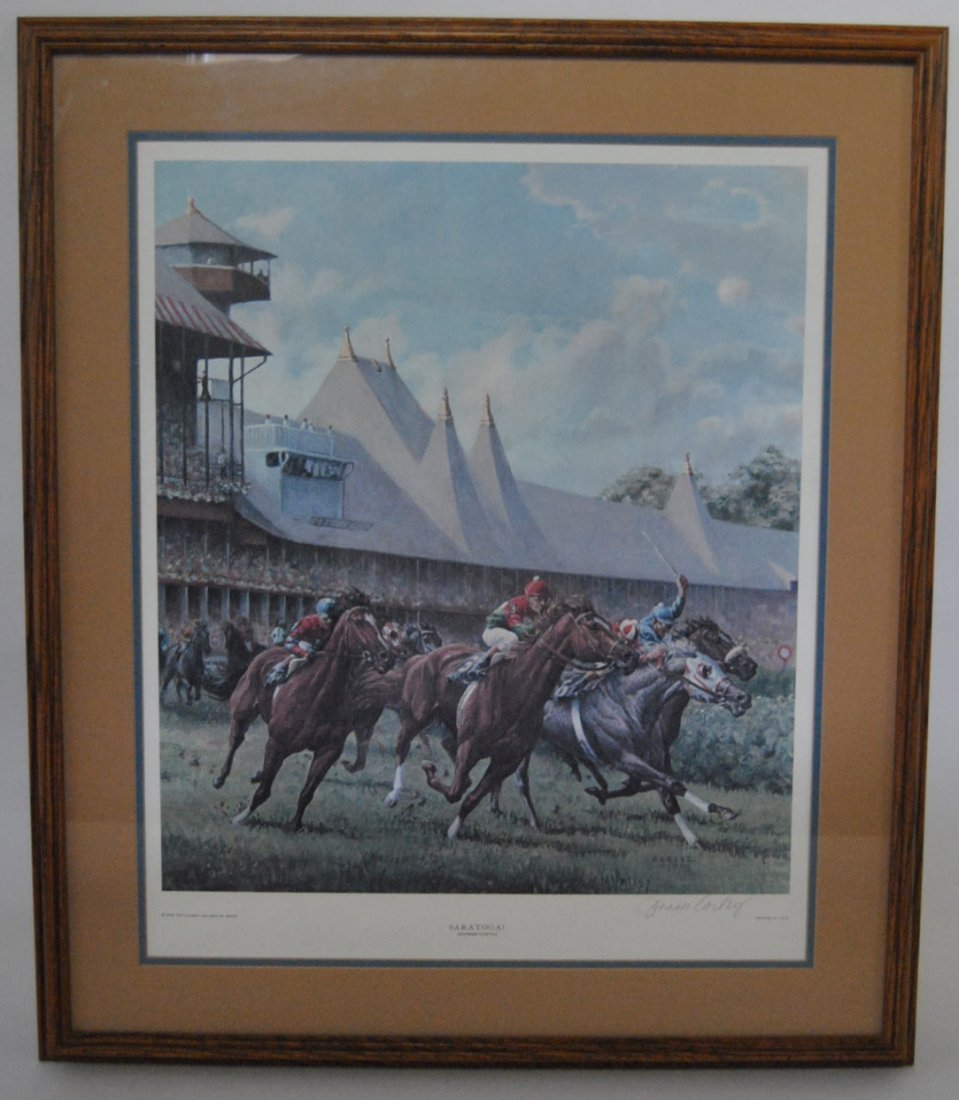 13: Jenness Cortez 1978 Signed Horse Racing Print