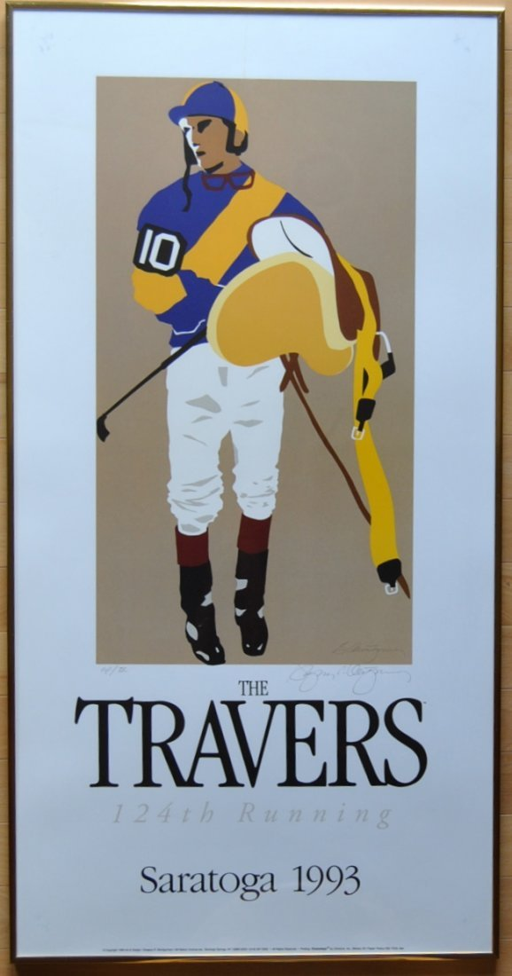19: Greg Montgomery 1993 Travers Poster, Signed & Frame