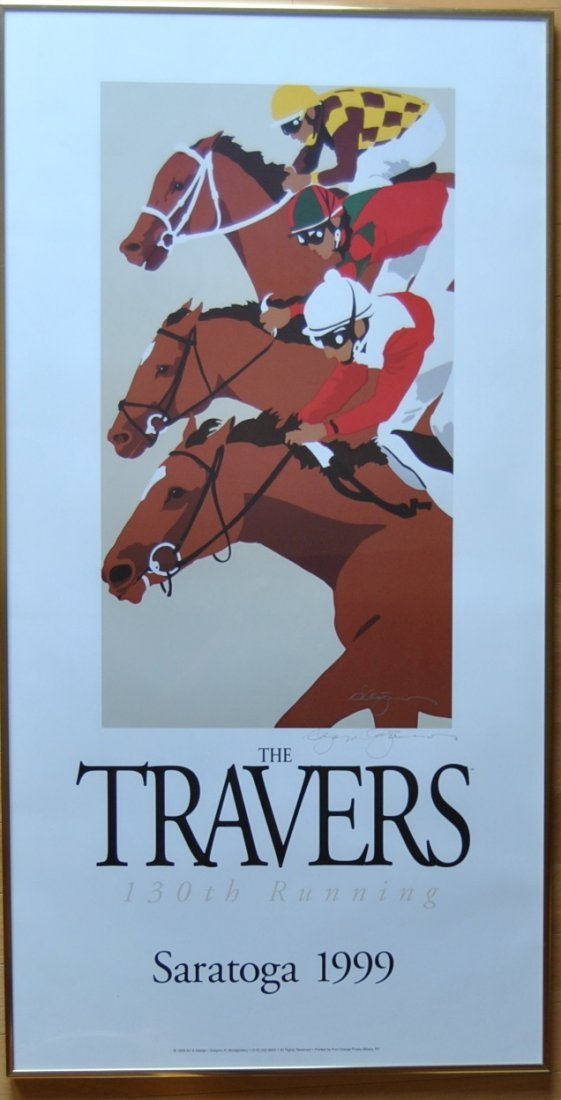 20: Greg Montgomery 1999 Travers Poster, Signed & Frame