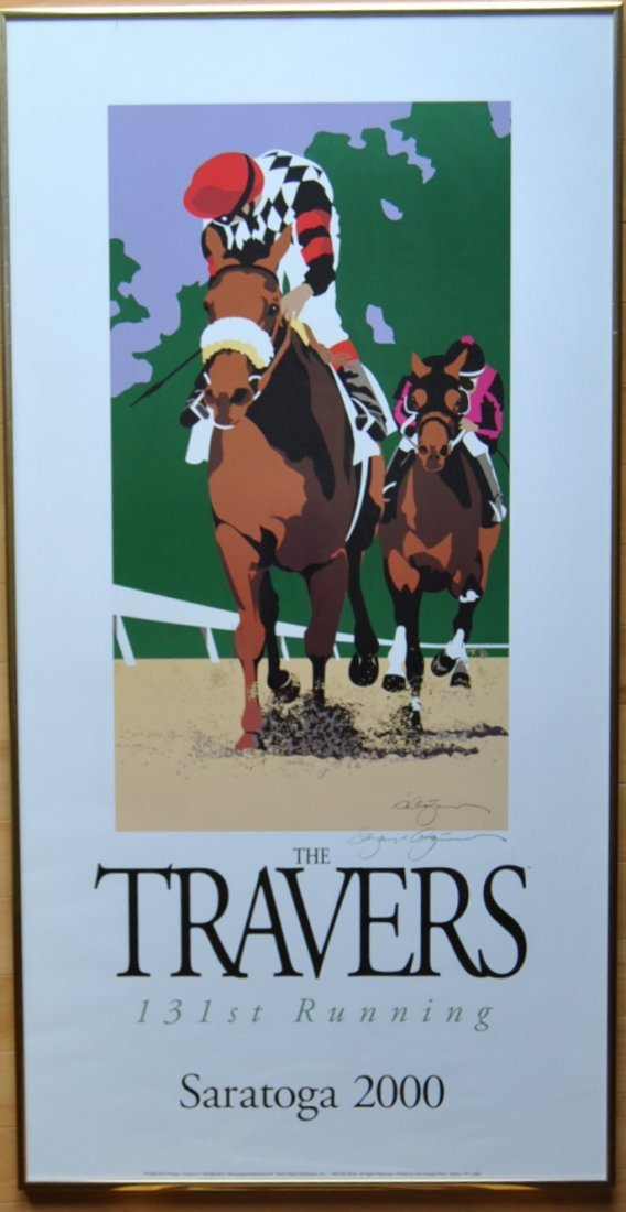 21: Greg Montgomery 2000 Travers Poster, Signed & Frame