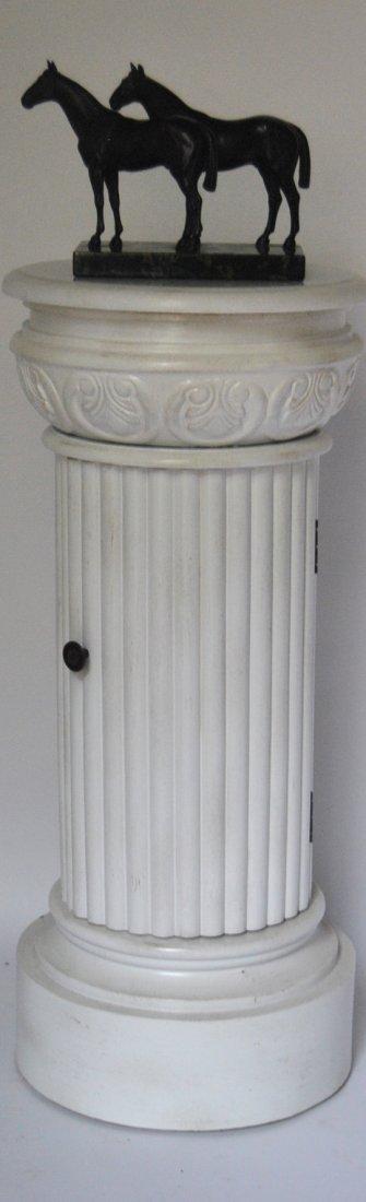 23: Marble-top Pedestal w/ Door