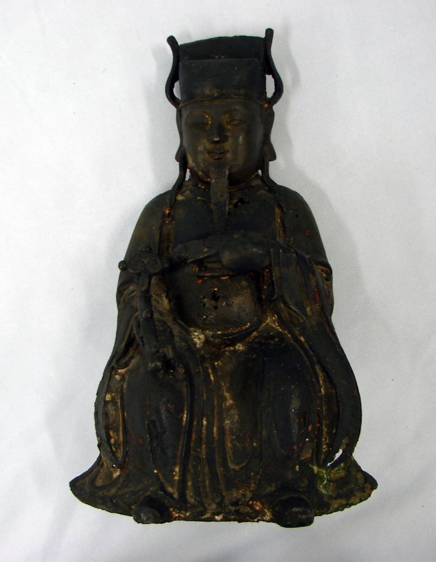 5181: Ming Chinese Bronze Figure Sculpture