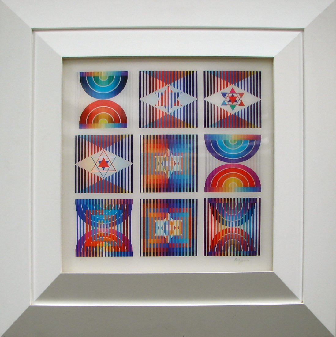 """5107: """"9 Up"""" Agamograph by Yaacov Agam Signed Dated"""