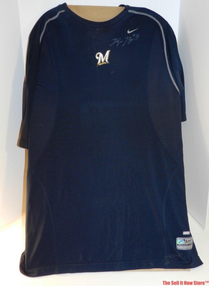 4101: Ryan Braun Game Used Shirt
