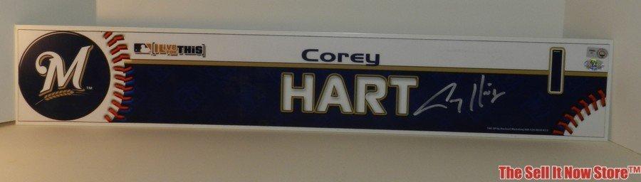 4104: Corey Hart Autographed Locker Header