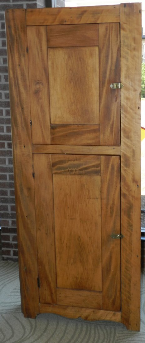 4106: Antique Country Corner Cabinet
