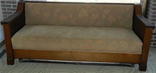 Cool 4107 Antique Arts Crafts Mission Style Sleeper Sofa Aug Uwap Interior Chair Design Uwaporg