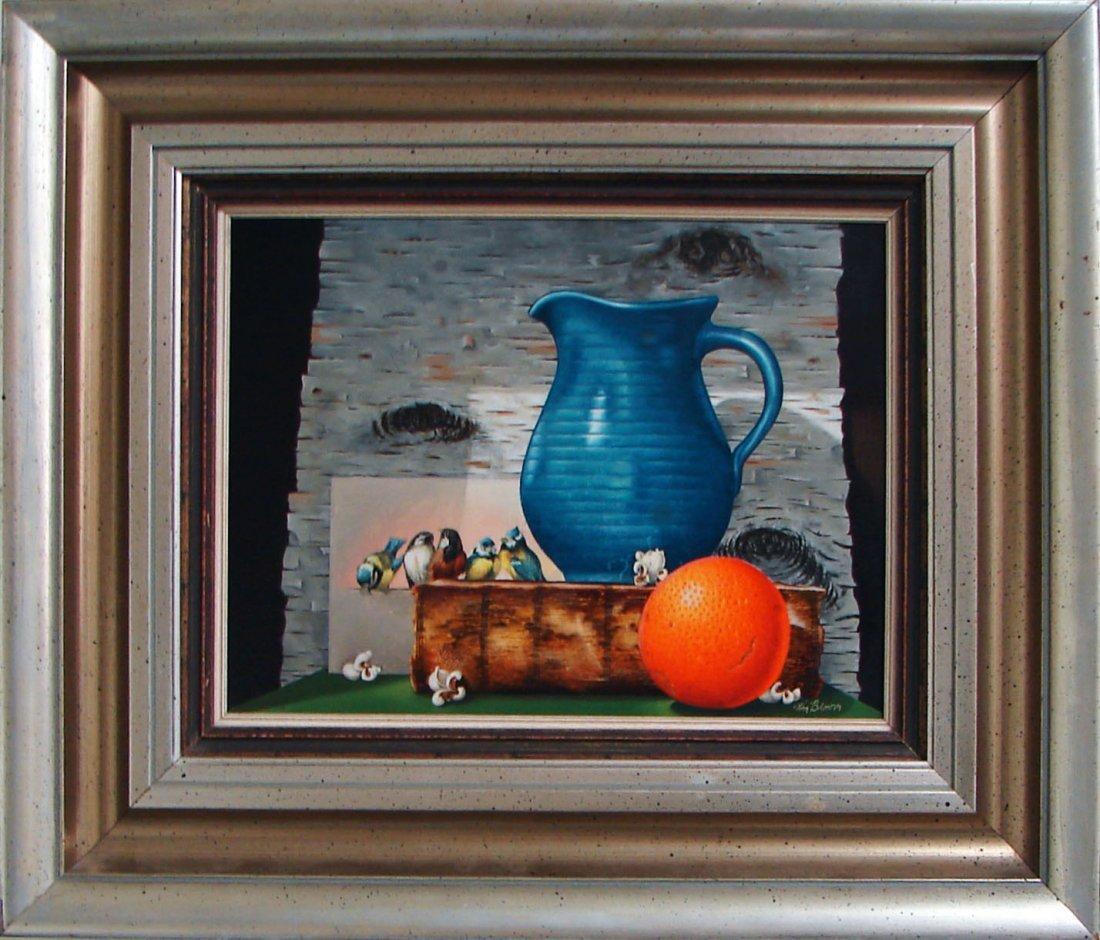 5103: Signed William Bloom Untitled Still Life Oil
