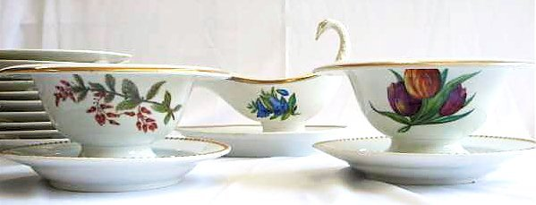5110: Lot Biedermeier Period KPM Royal Berlin Porcelain