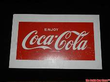 Wood Coca-Cola Coke Soda Advertising Sign Board