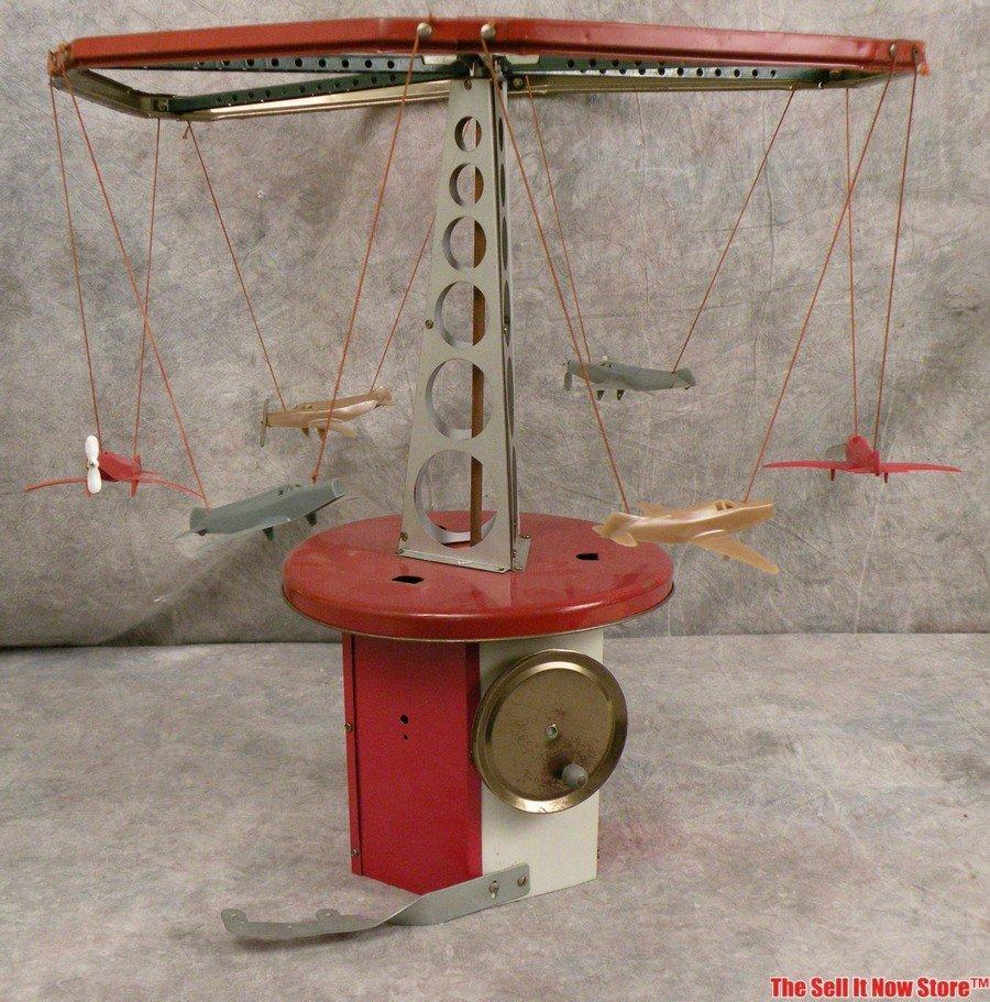 1950s Erector Set Play Merry Go Round Airplane Ride