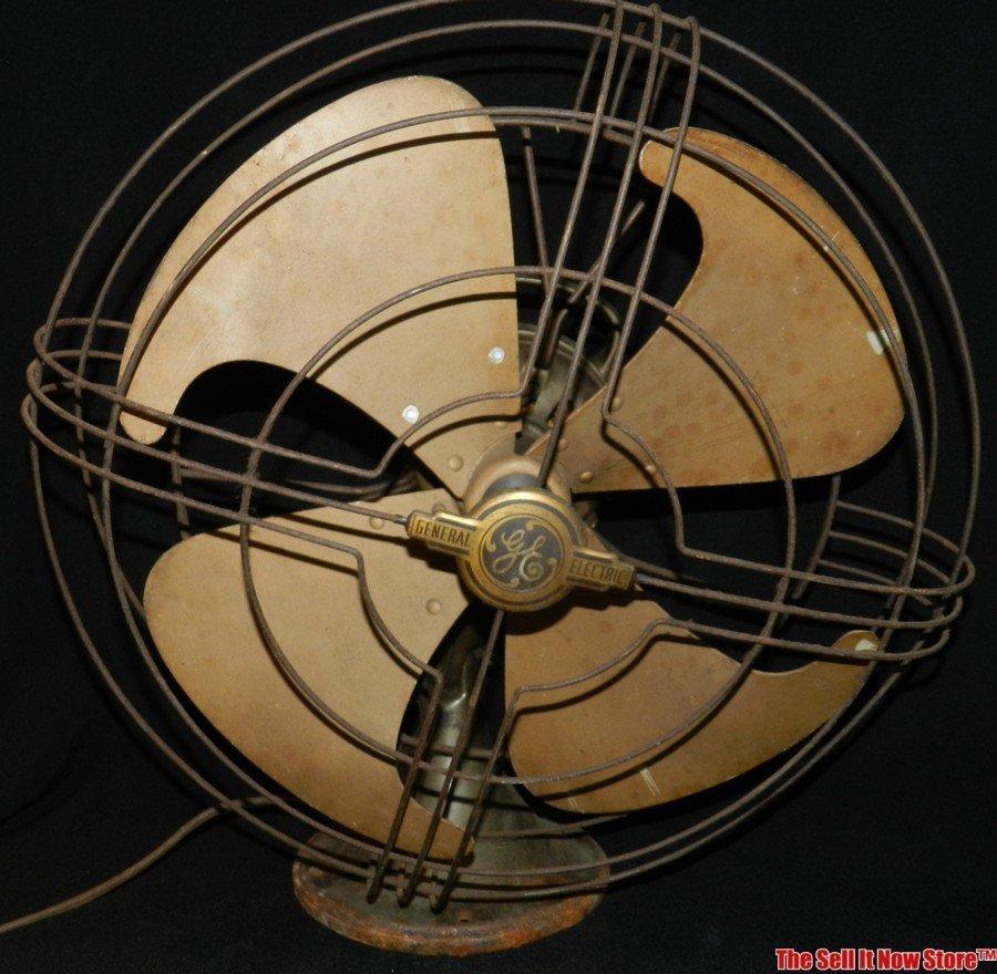 """Vintage GE General Electric 19"""" Oscillating Fan"""