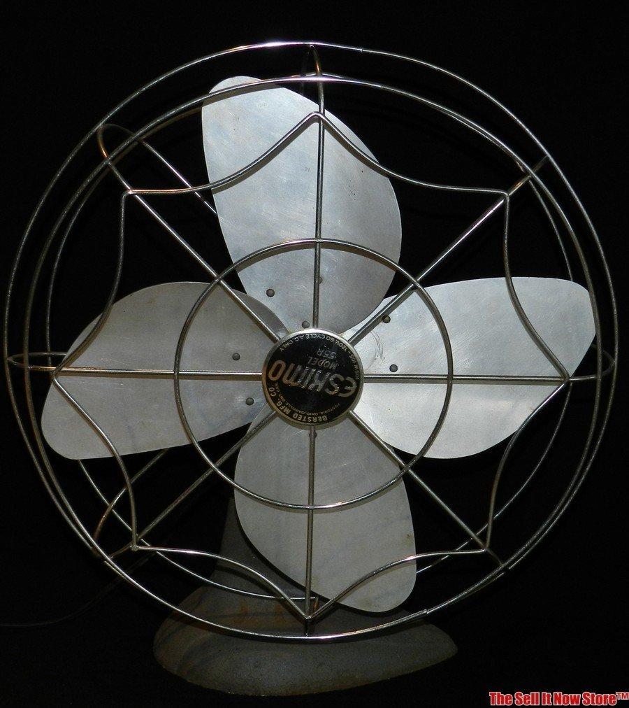 "Vintage Eskimo 18"" Model 55P Oscillating Fan"